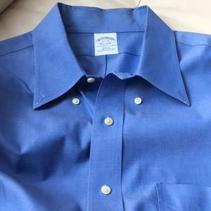 Brooks Brothers blue shirt. Slim Fit. Non - iron